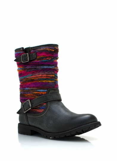 Yarn Shaft Mid-Rise Boots