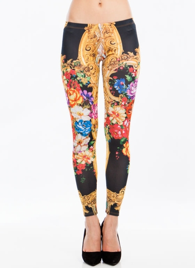 You Baroque It Floral Print Leggings