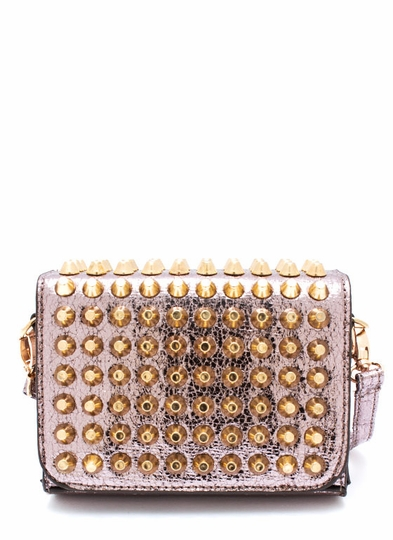 You Crack Me Up Studded Clutch