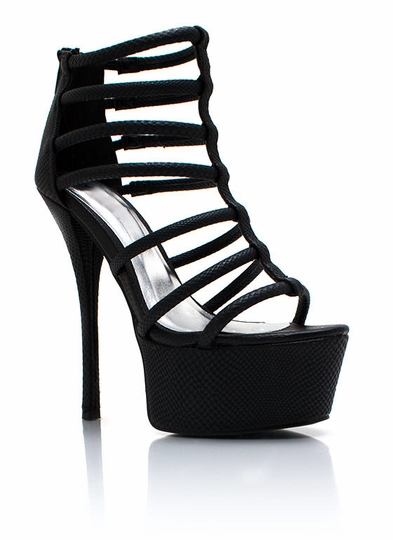 You Got Scales Strappy Platforms