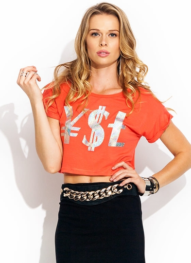 Young Money Love Crop Tee