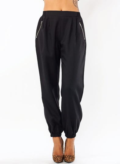 Zip Around Pleated Joggers