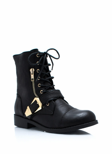Zip It Good Combat Boots