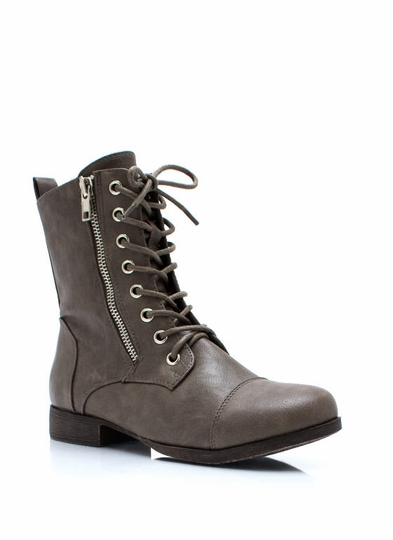 Zip Two It Lace-Up Boots
