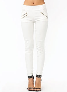 Zippy Coated Skinny Pants