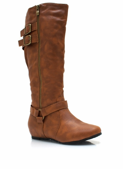 Zippy Double Buckle Boots