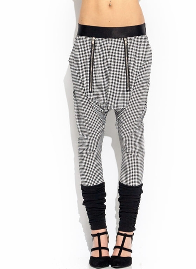 Zippy Houndstooth Harem Pants