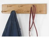 Solid Cherry Double Row Peg Rack