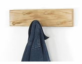 Solid Oak Double Row Peg Rack