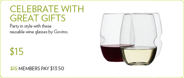4-Pack Wine Glass Set by Govino