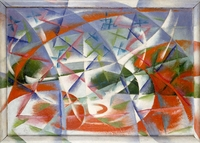 Giacomo Balla, Abstract Speed + Sound (Velocit� astratta + rumore), 1913�14