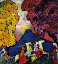 Vasily Kandinsky, Blue Mountain (Der blaue Berg), 1908�09