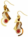 Cubist Guitar Earrings by David Howell