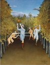 Henri Rousseau, The Football Players (Les joueurs de football), 1908