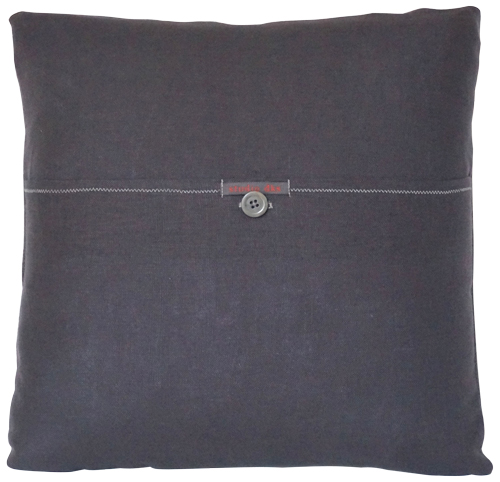 Geometric Grey and Gold Pillow by Studio DKS