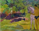 Paul Gauguin, In the Vanilla Grove, Man and Horse (Dans la vanillere, homme et cheval), 1891