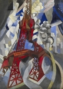 Robert Delaunay, Red Eifel Tower (La tour rouge), 1912