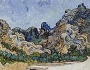 Vincent Van Gogh's, Mountains at Saint-R�my (Montagnes � Saint-R�my), 1889