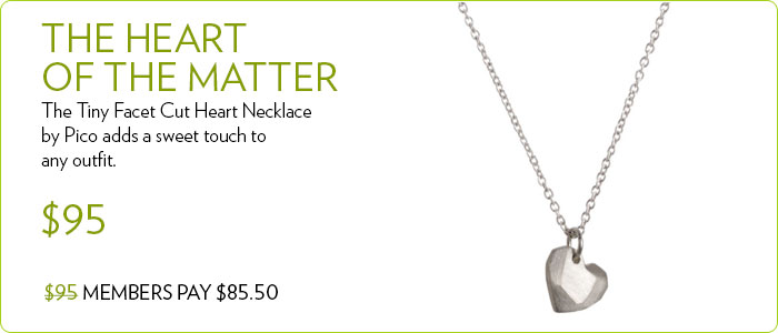 Tiny Facet Cut Heart Necklace by Pico