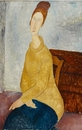 Amedeo Modigliani, Jeanne Hebuterne with Yellow Sweater (Le sweater jaune), 1918-1919