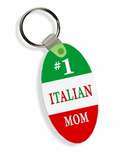 #1 Mom Italian Flag Keychain