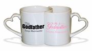 Godfather / Godmother Heart Mugs