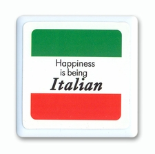Happiness Is Being Italian Tile Magnet