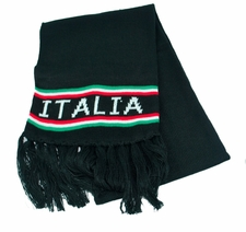 Italia Black Knit Scarf