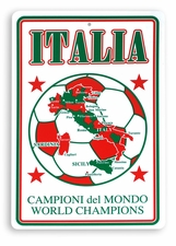 Italia - Championi del Mondo Parking Sign