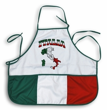 Italia with Italy Map Apron
