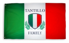 Italian Shield Custom Flag 3' x 5'