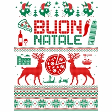 Italian Ugly Christmas Sweater Design Crewneck