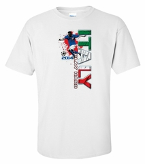 Italy Play Hard 2014 Vertical Tee