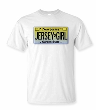 Jersey Girl License Plate Shirt