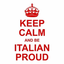 Keep Calm and Be Italian Proud T-Shirt