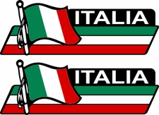 Italia Flag Bar Decal 2 Pack