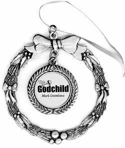 The Godchild Pewter Holiday Ornament