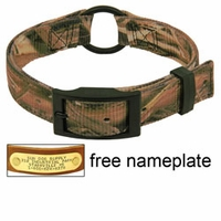buy discount  Mossy Oak Blades Camo 2-ply Nylon Center Ring Dog Collar
