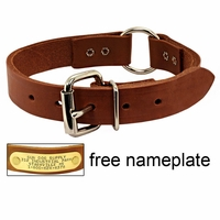 buy discount  1 in. Leather Center-Ring Collar