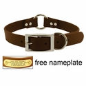 buy discount  1 in. Mendota DuraSoft Brown Hunt Dog Center-Ring Dog Collar