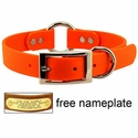 buy discount  1 in. Mendota DuraSoft Orange Hunt Dog Center-Ring Dog Collar