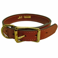 buy discount  1 in. Mendota Hunt Dog Leather D-Ring Dog Collar