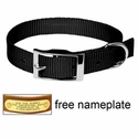 "buy discount  3/4"" Black OmniPet Single Ply Stitched Nylon Collar"