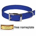 "buy discount  3/4"" Blue OmniPet Single Ply Stitched Nylon Collar"
