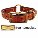 buy discount  3/4 in. K-9 Komfort Deluxe Leather Center Ring Puppy / Small Breed Collar