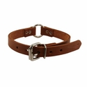 buy discount  3/4 in. Leather Center Ring Puppy / Small Dog Collar -- 12 inch