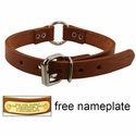 buy discount  3/4 in. Leather Center Ring Puppy / Small Dog Collar