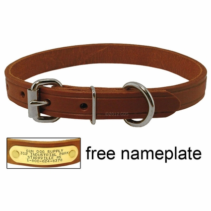 3/4 in. Leather Standard Puppy / Small Dog Collar