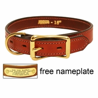 buy discount  3/4 in. Mendota Hunt Dog Leather D-End Puppy / Small Dog Collar