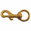 "buy discount  Bolt Snap / Round Swivel Eye -- Brass 3 1/8"" Long"